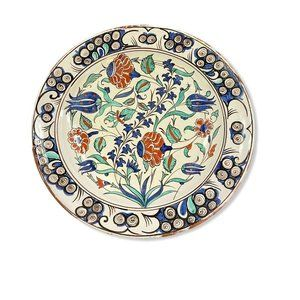 "Vintage Italian Pottery 12"" Plate Made For The Met"